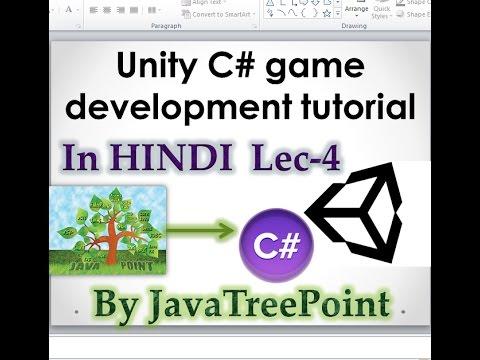 Lec-4 Unity c# game development tutorial in hindi (Unity game ...