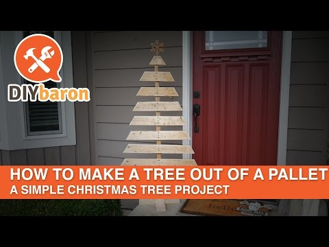 How to make a tree out of a pallet