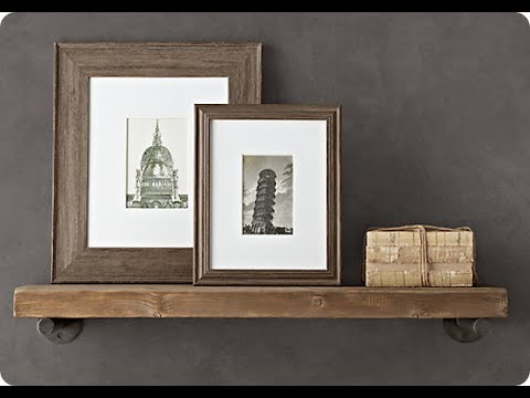 Wood And Metal Wall Shelves wood and metal wall shelves - youtube