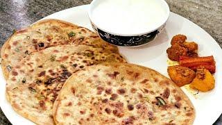 Mooli ke Patton ka Paratha   Radish Leaves Paratha   Punjabi Style Recipe in Hindi