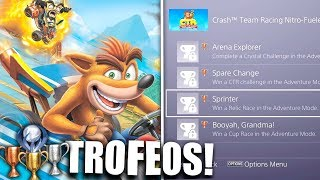TROFEOS FILTRADOS de Crash Team Racing Nitro Fueled! | Lechu