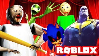 ROBLOX HORROR MUSICAL - PART 1! Bendy + Dame Tu Cosita, Sonic.exe & More! (Roblox Roleplay)