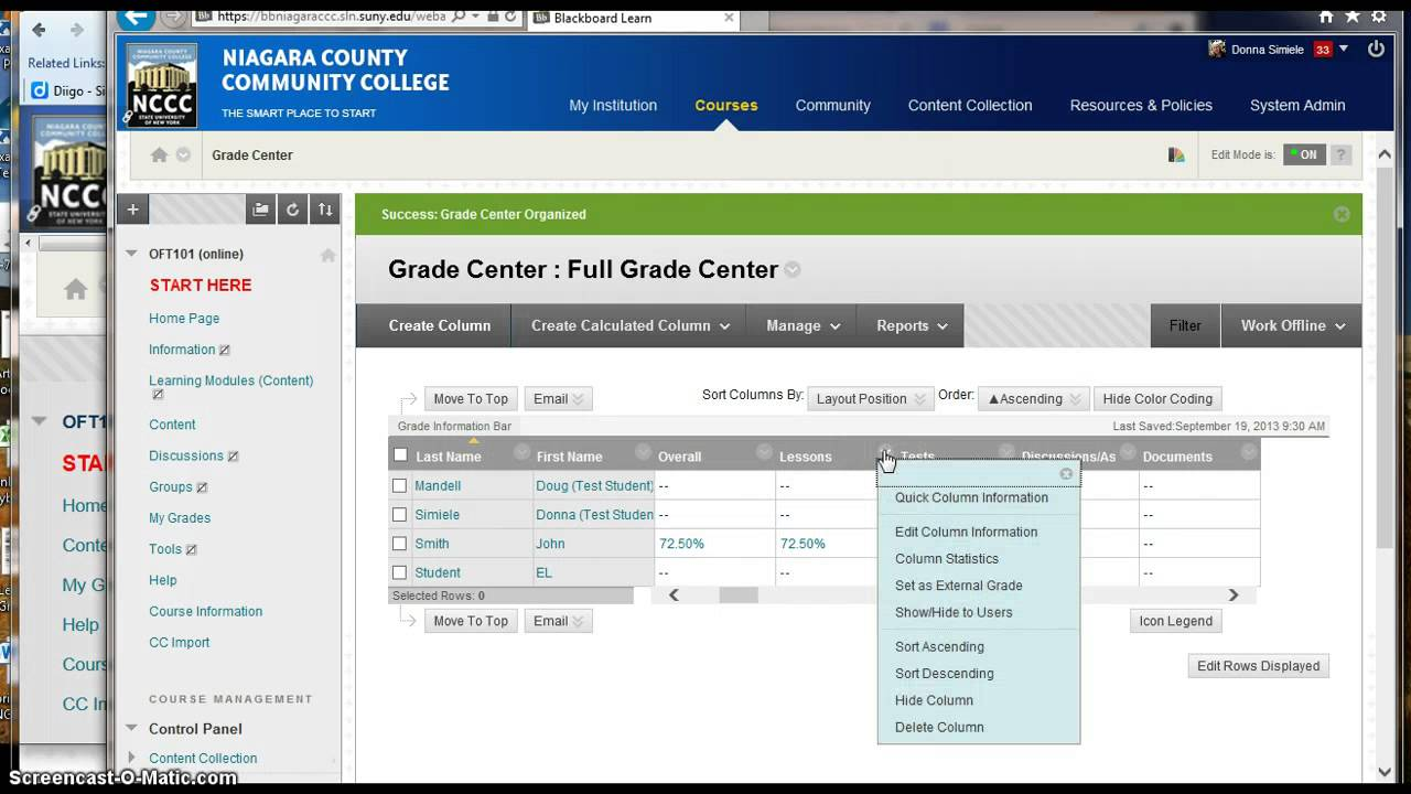 stlcc blackboard Blackboard My Grades View - YouTube