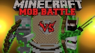 Elf Hunter Vs. Skeleton Friend - Minecraft Mob Battles - Minecraft Arena Battle