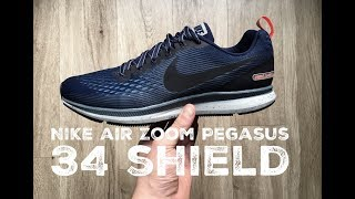 Nike Air Zoom Pegasus 34 Shield ´obsidian blueˋ | UNBOXING & ON FEET | running Shoes | 2017 | HD