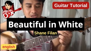 Beautiful in White guitar chords (Westlife Shane Filan) | Pareng Don Tutorials