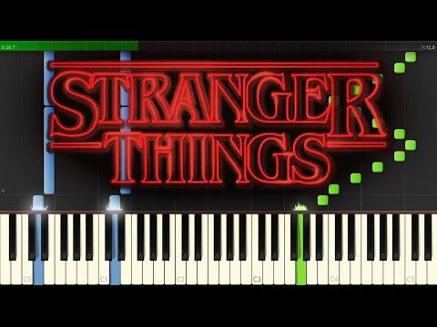 Stranger Things Theme sheet music + piano tutorial