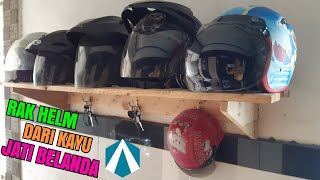 Cara Buat Rak Helm Dari Kayu Bekas Palet (jati Belanda)