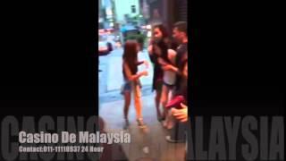 清晨香港兰桂坊街头殴打事件