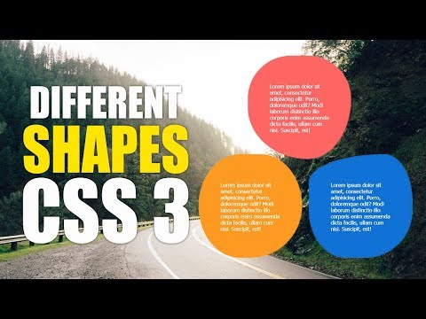 CSS 3 Shapes For Services Section Using HTML /  CSS / Website Design