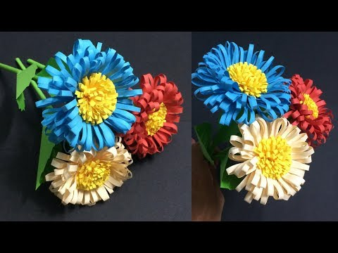 How to Make Daisy Paper Flowers | Making Beautiful Paper Flower | DIY-Paper Crafts