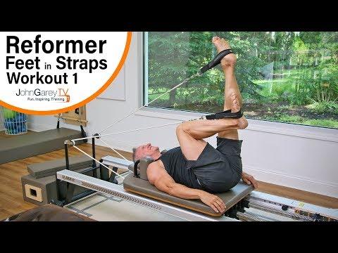 Beginner Pilates Reformer Feet in Straps Workout