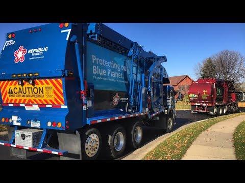 100 Garbage Trucks In Action!