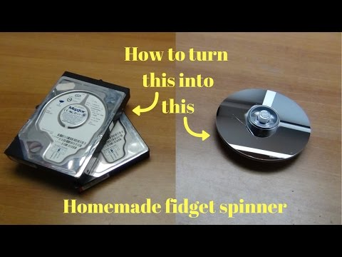 💻 HOW TO MAKE FIDGET SPINNERS FROM OLD HARD DRIVES! 💻