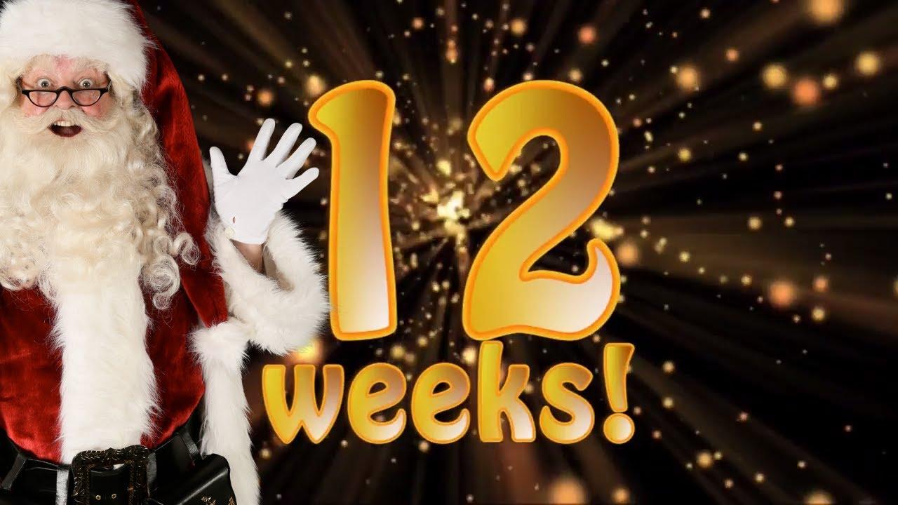 12 weeks to christmas santas christmas countdown