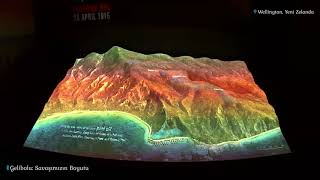 Anzac Cove Landing on 3D Map - 'Gallipoli: Scale of Our War' (Te Papa Museum)