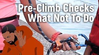 WHAT NOT TO DO for Pre Climb Checks - Sport Climbing Level 1 Tutorial | MOA Academy