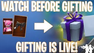 How to Gift Skins in Fortnite Battle Royale (not clickbait)