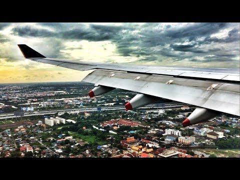 Singapore Airlines A330 Scenic Landing in Bangkok, Thailand