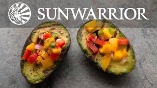 Sunwarrior Vegan Recipe: Grilled Avocados With Mango Salsa