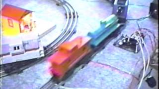 Historic 1991 John Aaron Model Railroad APS Eye Control Demo (AutoControls.org #APS1)