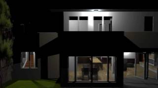 SketchUp 8 - Summer Home - Night Time POV - Animated Walk Through