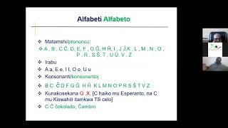 Kurso de Esperanto per la svahila de D-ro Byelongo Elisee Isheloke (parto 2/2)
