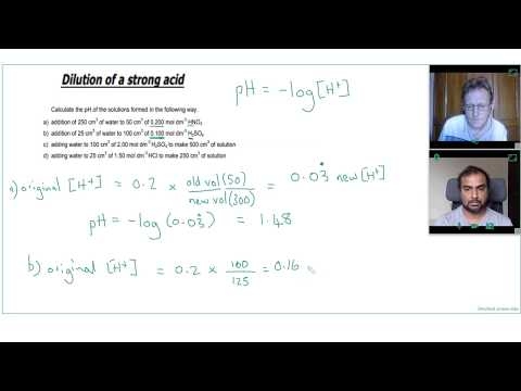 2 EASY STEPS to CALCULATE the pH of DILUTED STRONG ACIDS | Private A Level Chemistry Tutor