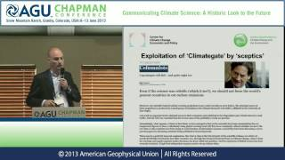 AGU Chapman Conference -- Climate Science: Robert Ward