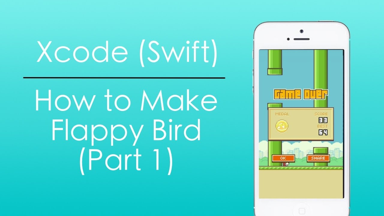 How to Make Flappy Bird With Swift in Xcode (Part 1) - YouTube