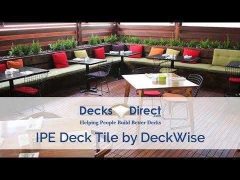 IPE Deck Tile By DeckWise