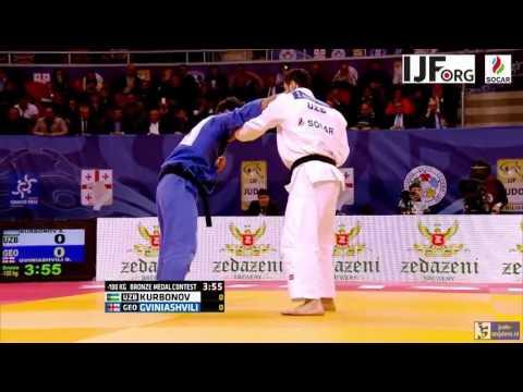 Judo 2016 Grand Prix Tbilisi: Kurbonov (UZB) - Gviniashvili (GEO) [-100kg bronze