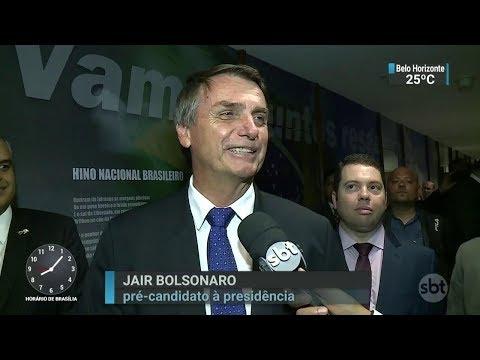 Jair Bolsonaro anuncia que o seu novo partido será o PSL | SBT Brasil (07/03/18)