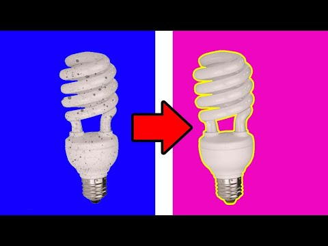 How to Clean Light Bulb - Energy Saver Cleaning at Home
