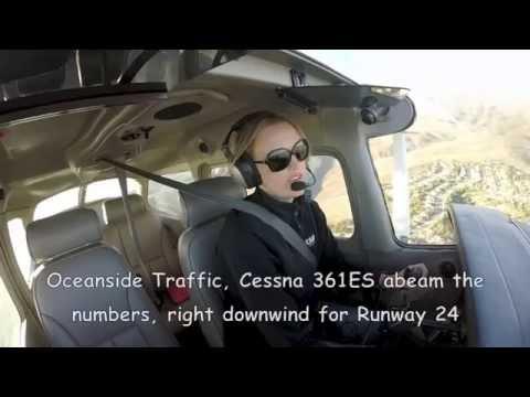 Cessna 172 Solo Flight KCRQ (Carlsbad) to KOKB (Oceanside) with Cockpit ATC Audio