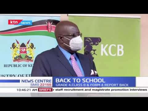 CS Magoha presides over the reopening of schools at Olympic Primary School
