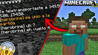 Herobrine se une a nuestro Mundo Mientras Grabó! | WTF!!! Aparición de Herobrine en Minecraft 1.2