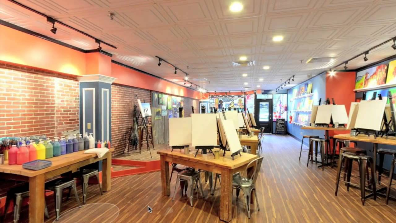 Street View Inside Of Muse Paint Bar Youtube