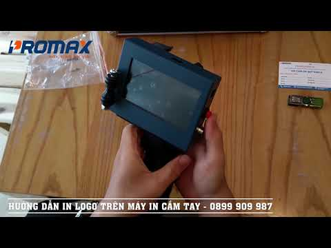 Hướng dẫn cách in Logo trên máy in date cầm tay, in logo Promax N3 Plus