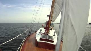 Classic Sailing Yacht Cruising Swedish Archipelago