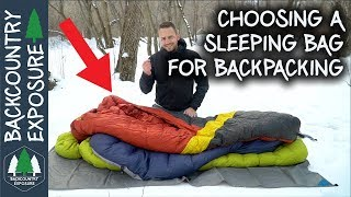 Choosing A Sleeping Bag For Backpacking | Lightweight Backpacking Series