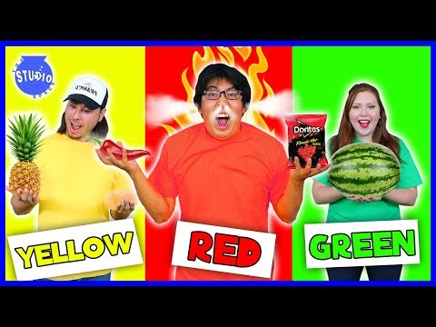 Eating Only ONE Color of Food for 24 Hours!  Rainbow Food Challenge