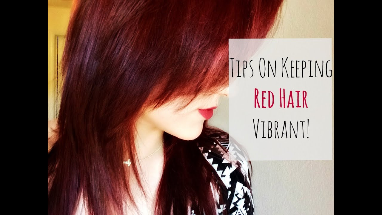 Tips On Keeping Red Hair Vibrant Chelseambeauty Youtube