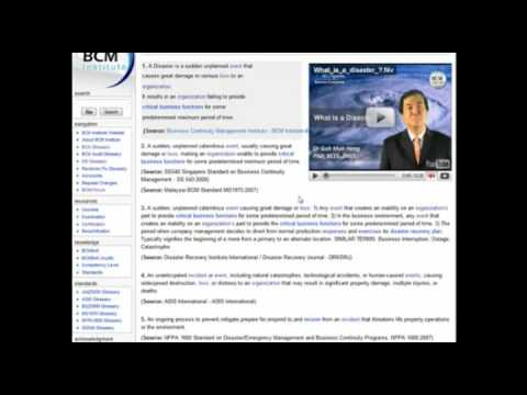 BCMpedia, the leading wiki glossary for Business continuity and Disaster Recovery professionals