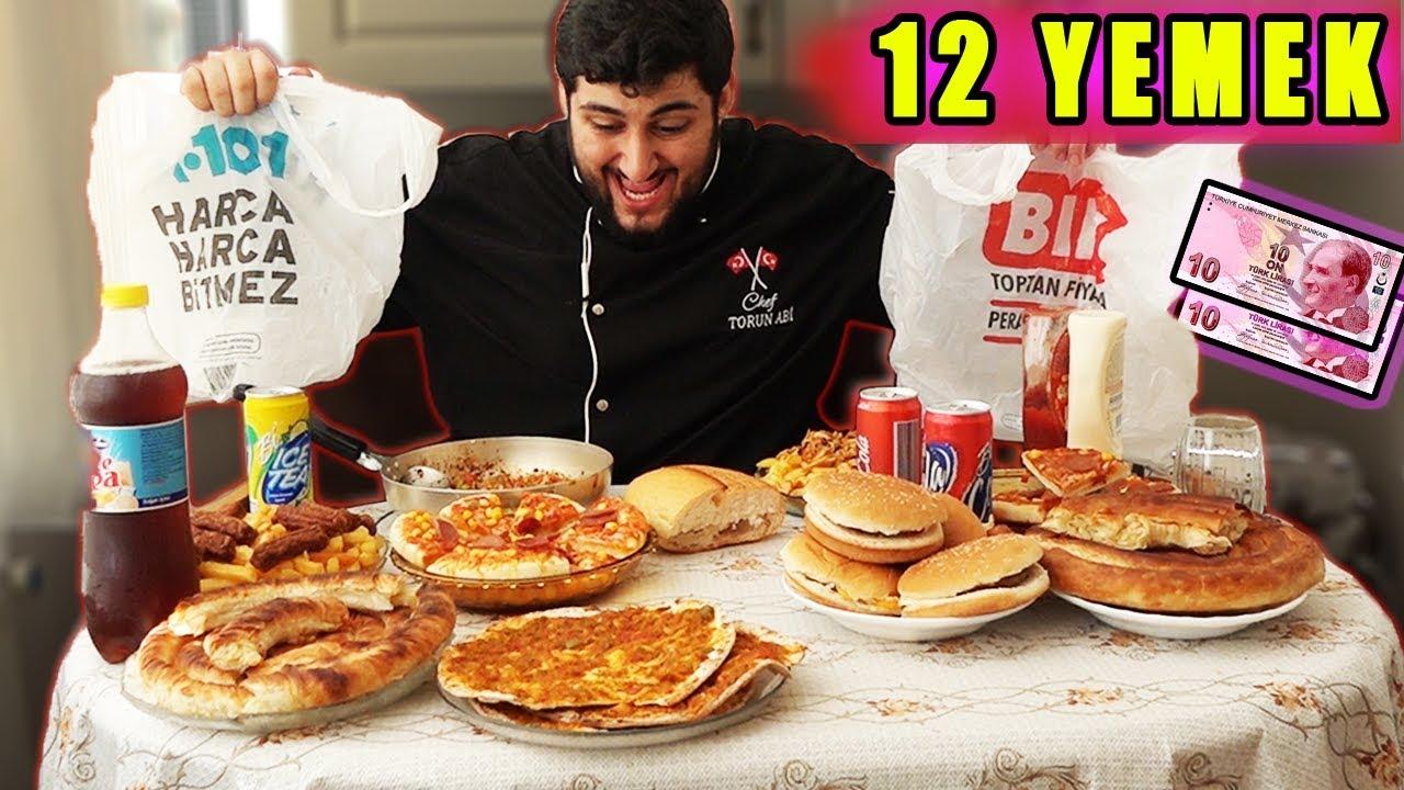 Bim Ve A101deki Bütün Yemekleri Yemek Kokoreçhamburgerpizza