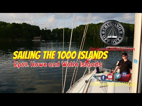 Sailing the 1000 Islands.  Exploring the bays of Howe Island and Wolfe Island.  Ep69 (4K)