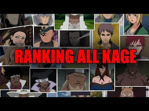Ranking All Kage from Weakest to Strongest