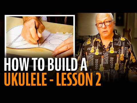 How To Build A Ukulele, Lesson 2: BRACING THE TOP & BACK