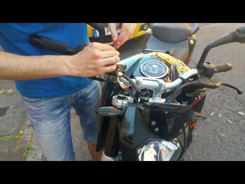 ktm-duke-390-umbau-bremsflüssigkeitsbehälter-deckel-vorne