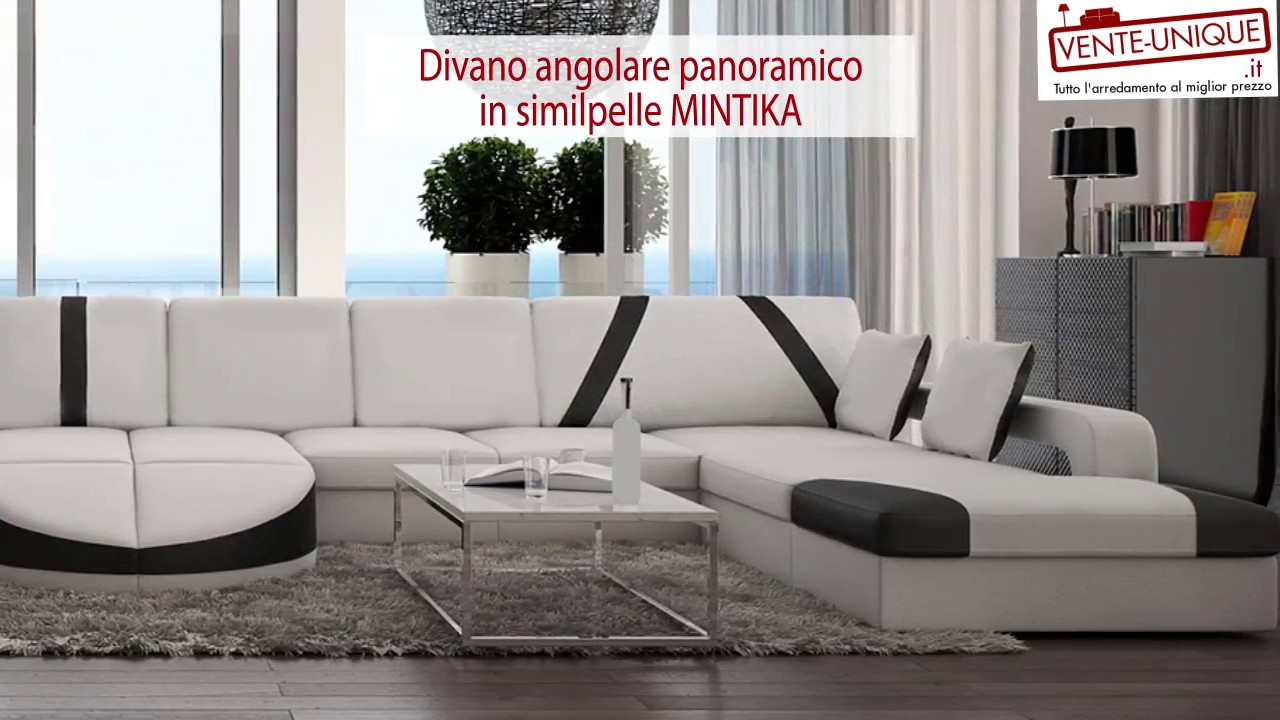 Divano angolare panoramico mintika youtube for Divano angolare